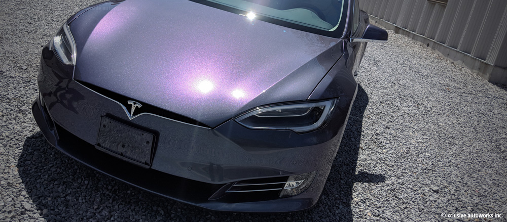 Tesla colorshift xclusive vinyl wrap