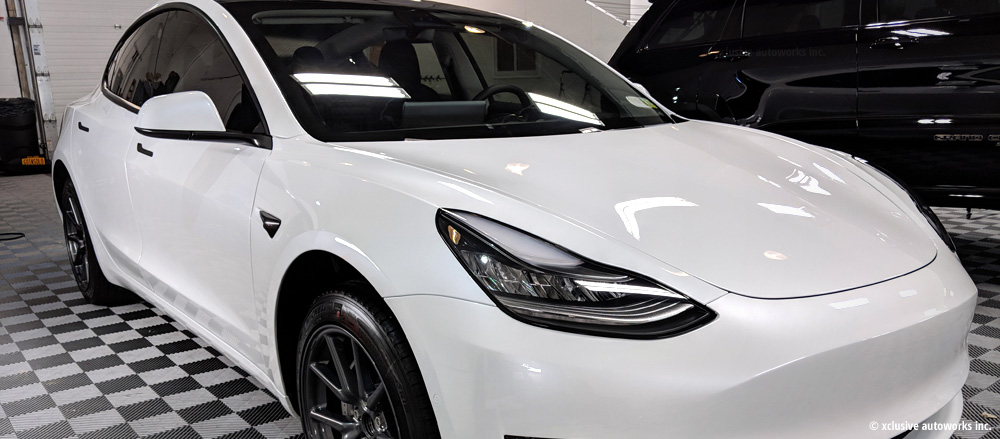 Xclusive autoworks detail Tesla Model 3
