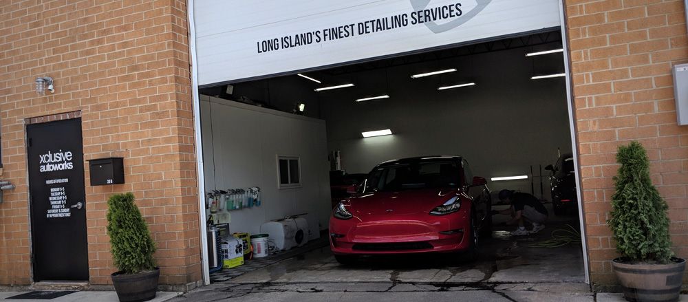 Ceramic coating on Tesla Model 3