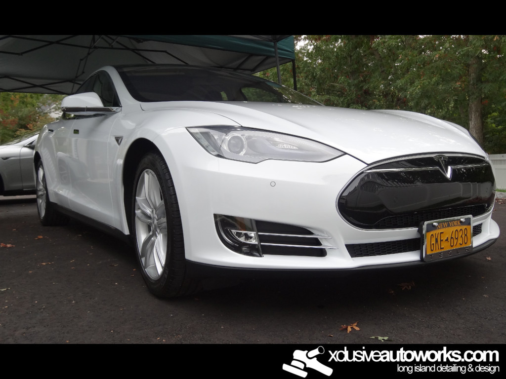 After Opti-Coat White Tesla