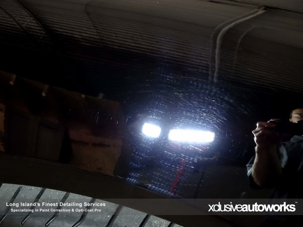 Before paint correction by Xclusive Autoworks
