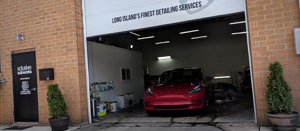 Ceramic coating on Tesla Model 3